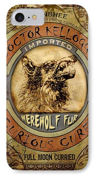 IPhone Case featuring the digital art Werewolf Fur  by Nada Meeks