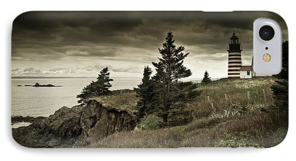 IPhone Case featuring the photograph West Quoddy Head Lighthouse by Alana Ranney