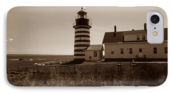 West Quoddy Lighthouse Phone Case by Skip Willits