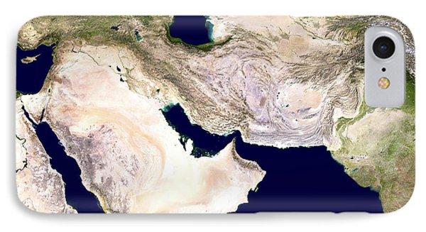 Western Asia, Satellite Image Phone Case by Nasa