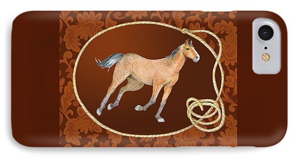 Western Roundup Running Horse IPhone Case