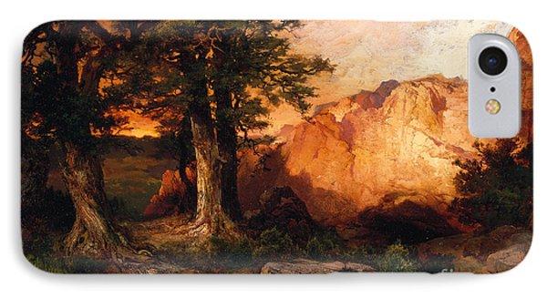 Western Sunset Phone Case by Thomas Moran