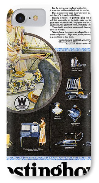 Westinghouse Ad, 1925 Phone Case by Granger
