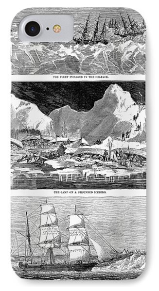 Whaling Fleet In Ice, 1876 Phone Case by Granger