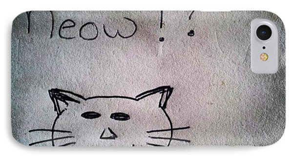 What My Room Mates Draw! #cat #drawing IPhone Case