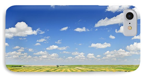 Wheat Farm Field At Harvest IPhone Case