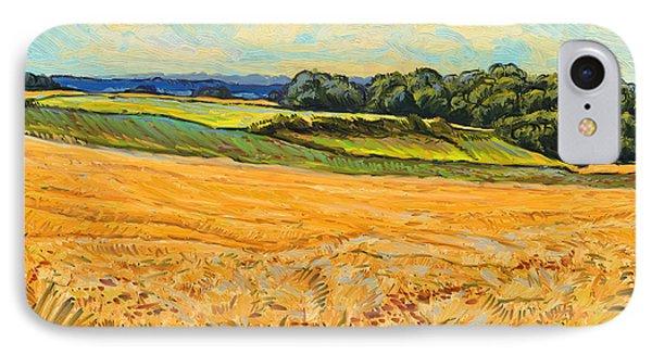 Wheat Field In Limburg Phone Case by Nop Briex