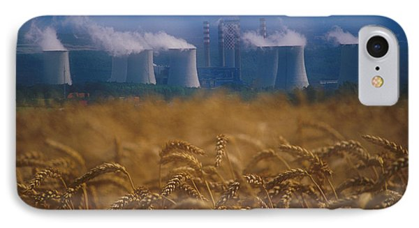 Wheat Fields And Coal Burning Power Phone Case by David Nunuk