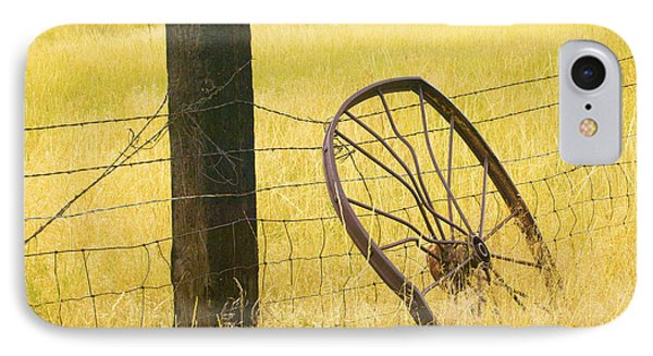 Wheel Looking For A Tractor Phone Case by Rich Franco