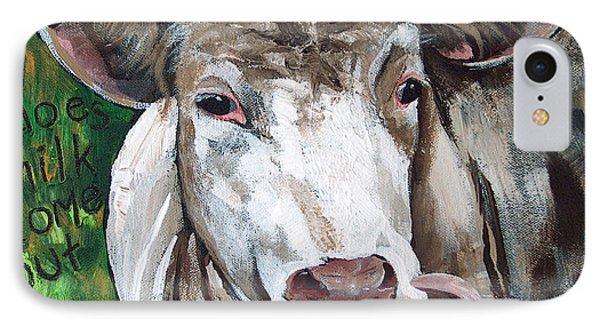 When A Cow Laughs Phone Case by Racquel Morgan