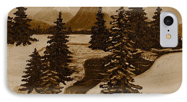 When It Snowed In The Mountains Phone Case by Barbara Griffin