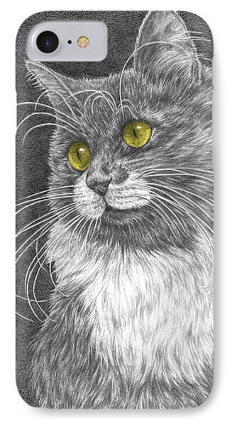 Whiskers - Color Tinted Art Print IPhone Case by Kelli Swan