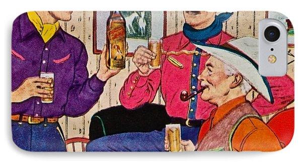 Whiskey Advertisement Phone Case by Susan Leggett