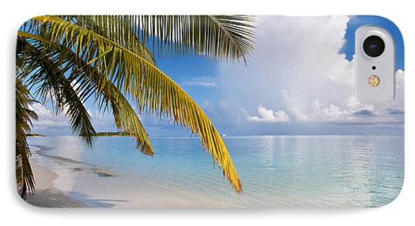 Whispering Palm On The Tropical Beach Phone Case by Jenny Rainbow
