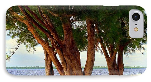 Whispering Trees Of Sanibel Phone Case by Karen Wiles