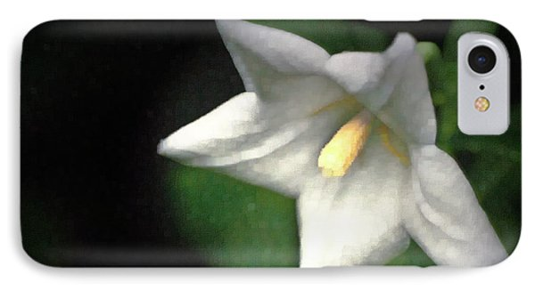 White Balloon Flower-faux Painting Phone Case by  Onyonet  Photo Studios