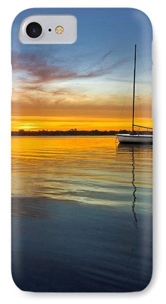 White Boat Phone Case by Debra and Dave Vanderlaan