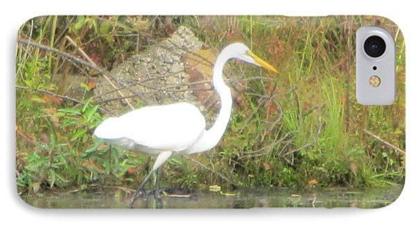 White Crane - Wildlife Phone Case by Susan Carella