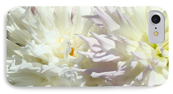 White Dahlia Flowers Art Prints Floral Phone Case by Baslee Troutman