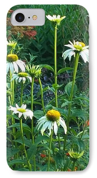 White Daisies And Garden Flowers Phone Case by Thelma Harcum