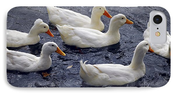 White Ducks IPhone 7 Case by Elena Elisseeva