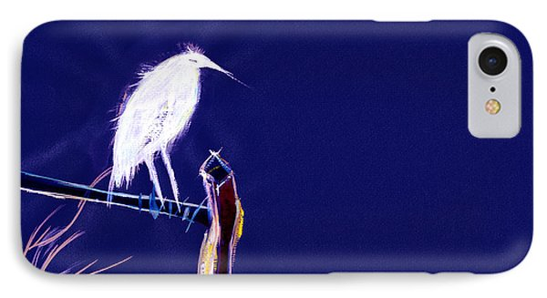 White Egret Phone Case by Anil Nene