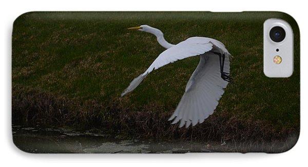White Egret IPhone Case by Randy J Heath