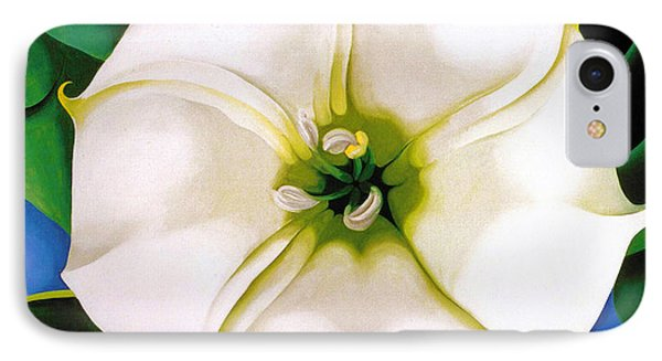 White Flower 9 IPhone Case by Sumit Mehndiratta