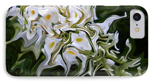 White Flowers 2 IPhone Case by Renate Nadi Wesley