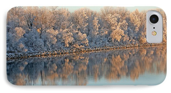 White Frost In Trees Phone Case by Ralf Kaiser