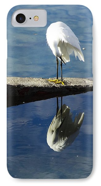 IPhone Case featuring the digital art White Heron by Anne Mott
