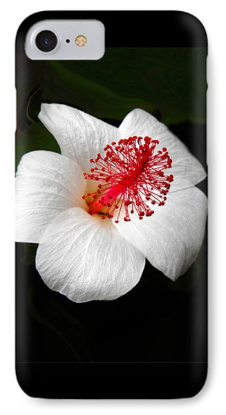 IPhone Case featuring the photograph White Hibiscus Flower by Rebecca Margraf
