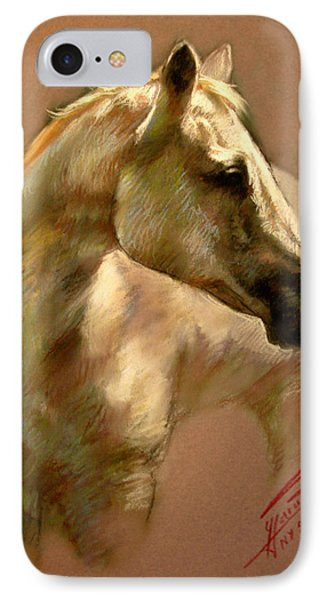 White Horse IPhone Case by Ylli Haruni