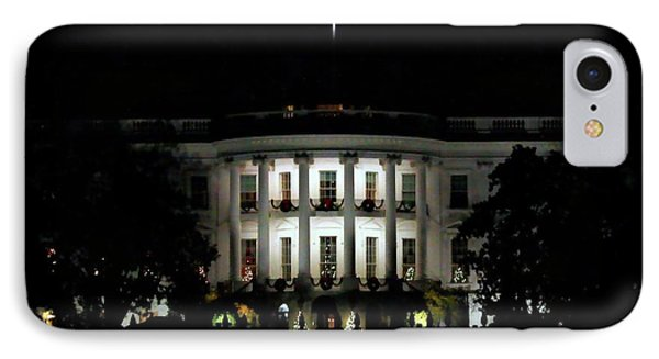 IPhone Case featuring the photograph White House In December by Suzanne Stout