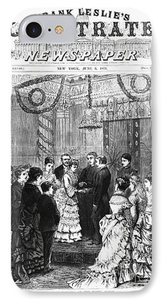 White House Wedding, 1874 IPhone Case by Granger