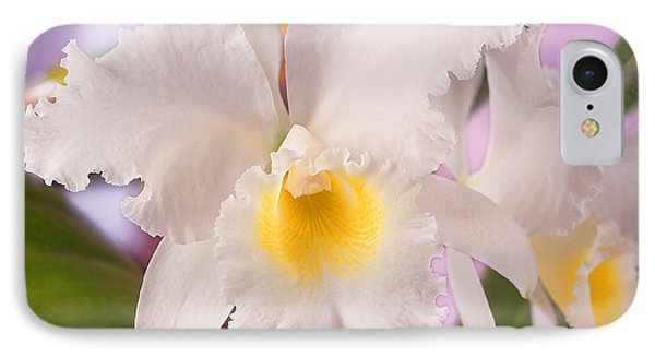 White Orchid Phone Case by Mike McGlothlen
