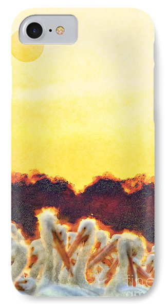 IPhone Case featuring the photograph White Pelicans In Sun by Dan Friend