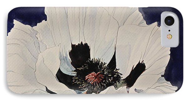 White Poppy-posthumously Presented Paintings Of Sachi Spohn  IPhone Case