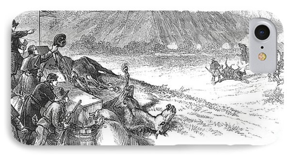 White River Attack, 1879 Phone Case by Granger
