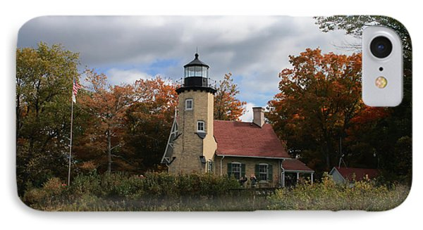 White River Lighthouse Phone Case by Richard Gregurich