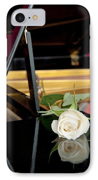 White Rose And Its Reflection Phone Case by Corepics