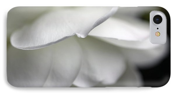 White Rose Flower Petals Phone Case by Jennie Marie Schell