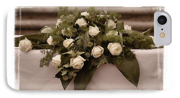 White Roses For The Wedding Phone Case by Mary Machare