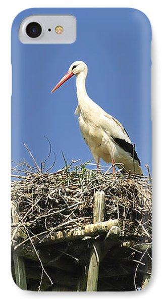 White Stork Ciconia Ciconia IPhone Case by Matthias Hauser