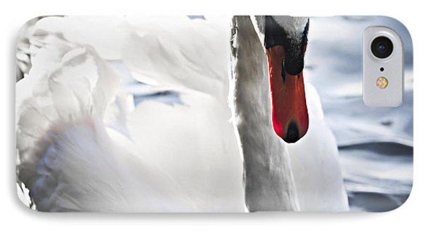 White Swan IPhone Case by Elena Elisseeva