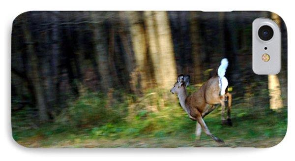 White Tail Running Deer IPhone Case by LeeAnn McLaneGoetz McLaneGoetzStudioLLCcom