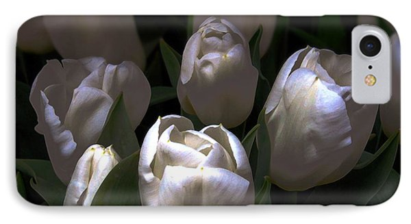 White Tulips Phone Case by Dale   Ford