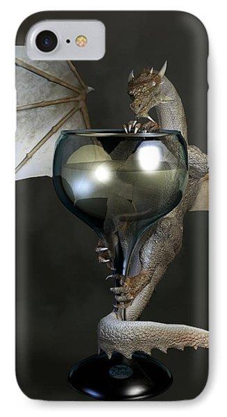 White Wine Dragon Phone Case by Daniel Eskridge