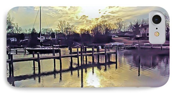 White's Cove In Winter Phone Case by Brian Wallace