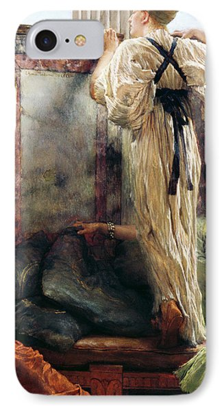 Who Is It IPhone Case by Sir Lawrence Alma-Tadema